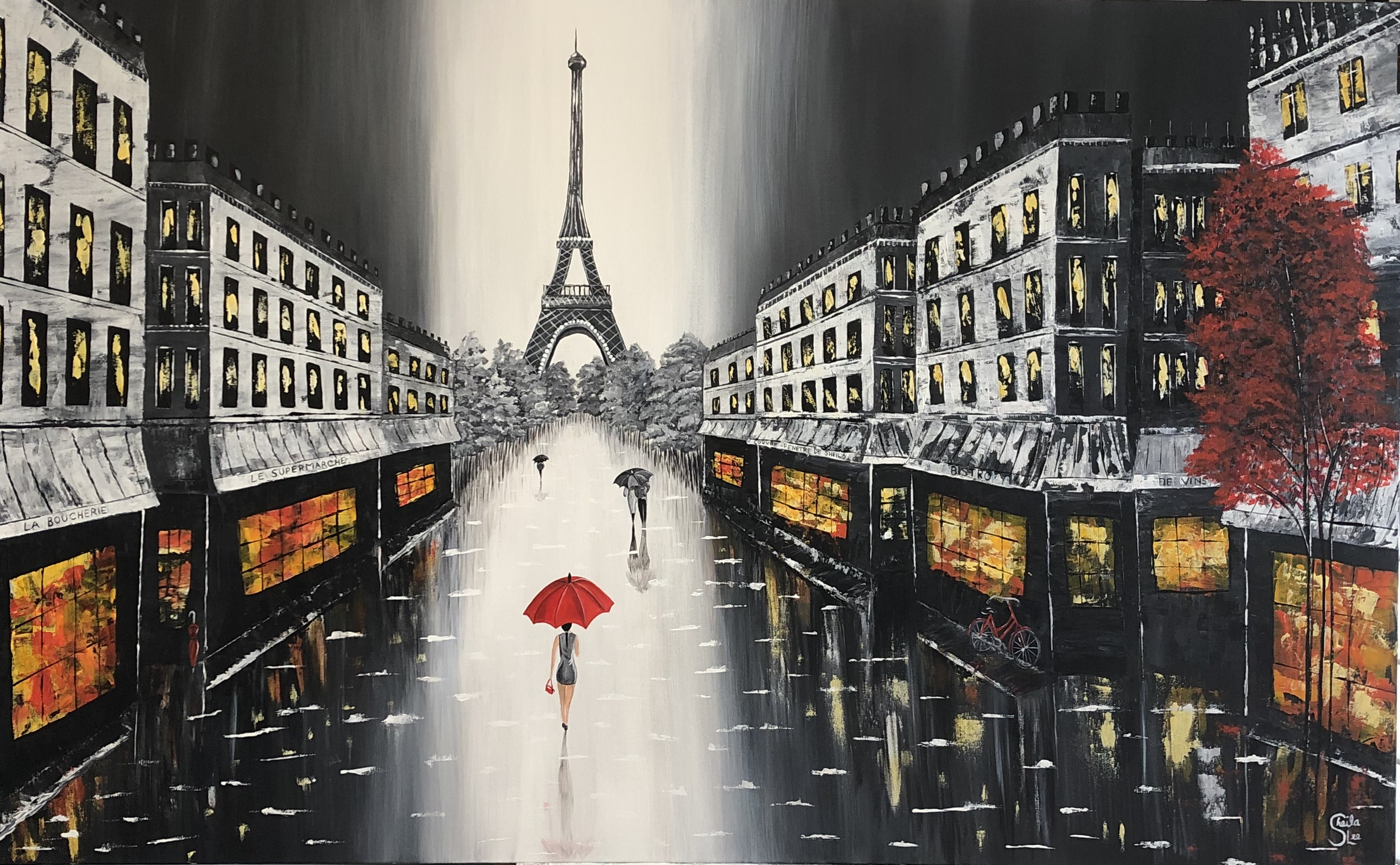 Eiffel Tower Cityscape