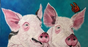 Farm Animals - Pig painting