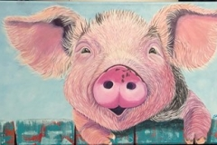 Pig Painting SOLD