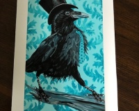 Limited Edition Print-Strutting-Raven-Style