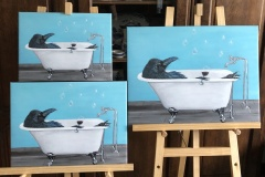 Limited Edition Bird-Bath-Canvas-Prints