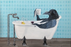 Limited Edition Rub-a-Dub-Dub-there-is-a-Crow-in-the-tub