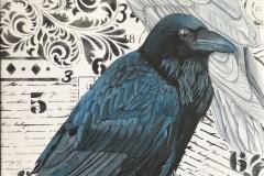 The Mysterious White Raven Print