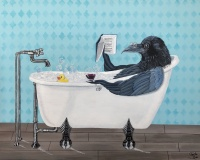 SOLD Rub-a-Dub-Dub-there-is-a-Crow-in-the-tub
